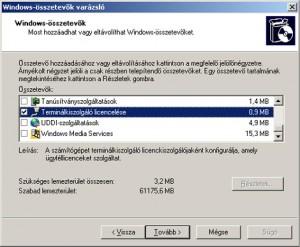 AADS MS Terminal Server telepítés